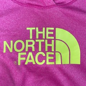 The North Face Tops - Pink/Neon Yellow Women's North Face Hoodie